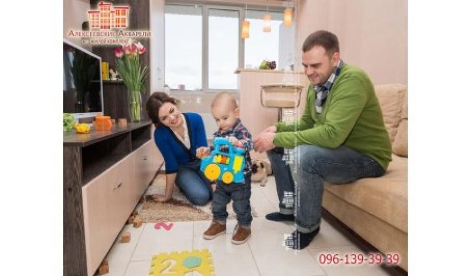 Двухэтажная квартира для семьи с ребёнком